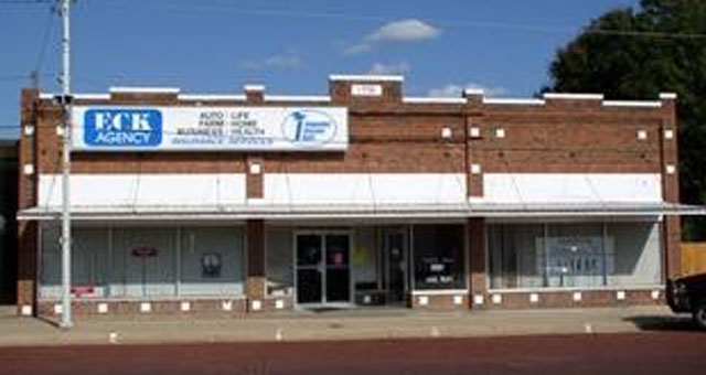 Exterior of Eck Agency office in Medicine Lodge, Kansas
