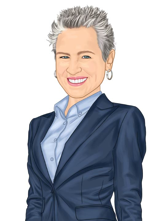 Caricature of Eck Agency Insurance Agent Iva Williams