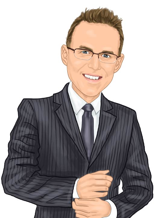 Caricature of Eck Agency Insurance Agent Michael Eck