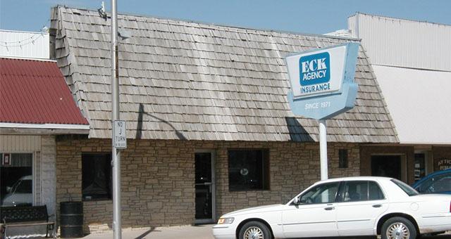 Exterior of Eck Agency location in Attica, Kansas