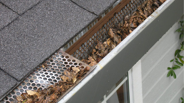Protect your home from winter weather damage by cleaning out gutters