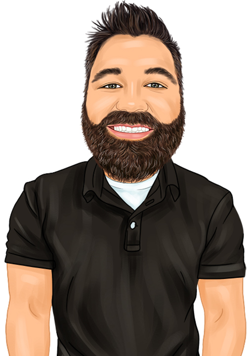 Caricature of Eck Agency Insurance Agent Brad Crow