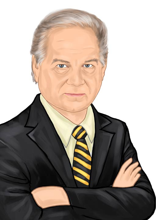 Caricature of Eck Agency Owner John Eck