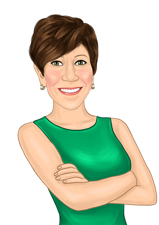 Caricature of Eck Agency Insurance Agent Kathy Eck